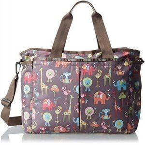 LeSportSac Classic Ryan Diaper Baby Bag Zoo Animal